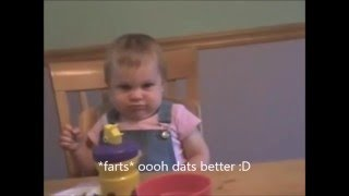 Farting baby episode 1*baby poops her pants*