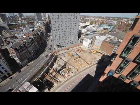 Construction time-lapse at The Atlas Building near Old Street, London
