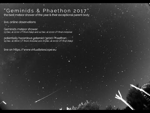 Geminids 2017 meteor shower: live view - 13 Dec. 2017 - Italy