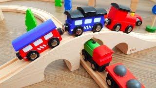 Поезда Деревянные Распаковка и Обзор игрушек машинок Видео для детей про машинки игрушки