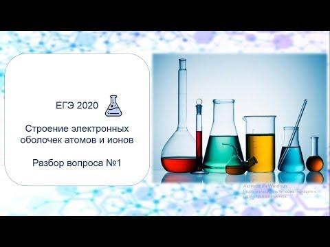 Строение атома. Задание 1. ЕГЭ по химии 2020