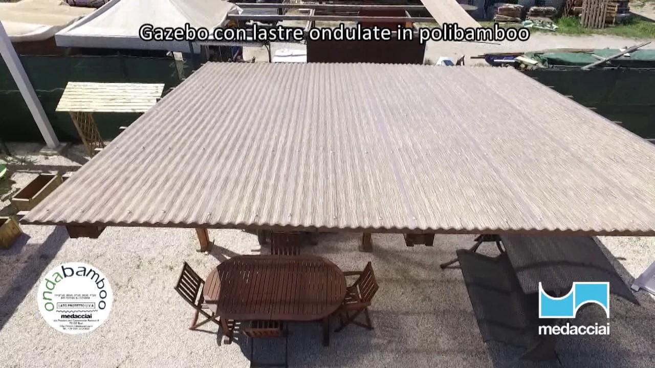 Coperture Gazebo In Policarbonato gazebo lastre ondulate polibamboo - youtube