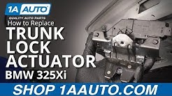 How to Replace Trunk Lock Actuator 01-05 BMW 325Xi