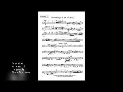 Kovacs: Hommage à M. de Falla - Arrangement for clarinet and orchestra (Vicente Ortiz Gimeno)