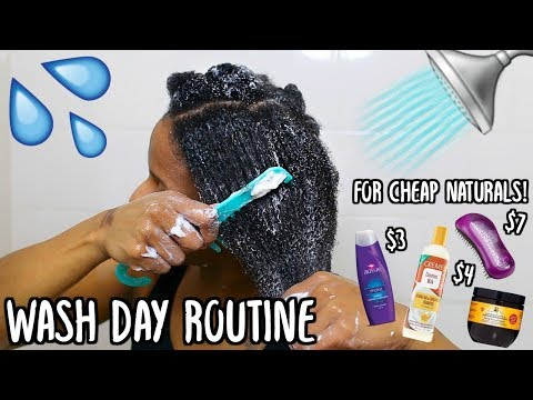 HOW I WASH & DETANGLE MY THICK TYPE 4 NATURAL HAIR! UNDER 1 HOUR WASH ROUTINE!