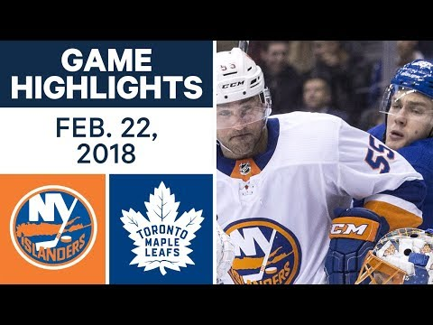 NHL Game Highlights | Islanders vs. Maple Leafs - Feb. 22, 2018