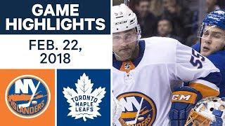 NHL Game Highlights | Islanders vs. Maple Leafs - Feb. 22, 2018