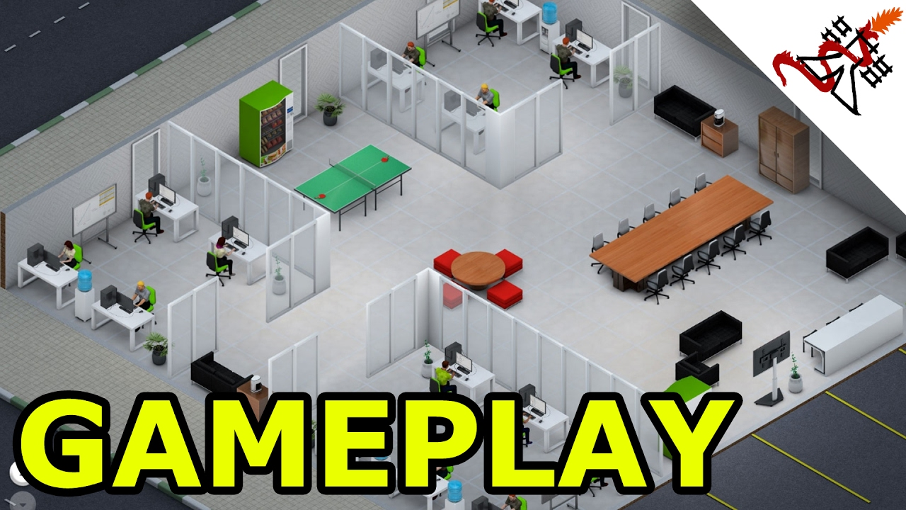 Startup company gameplay start the next facebook for Office design game