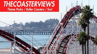 Giant Dipper RollerCoaster (HD POV Front) Santa Cruz Beach Boardwalk CA