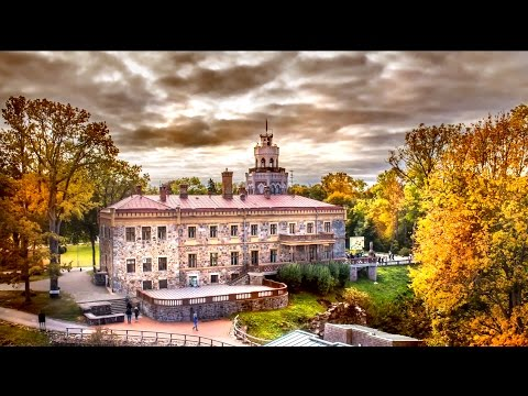 Autumn Landscape 4K HD Timelapse Photography Video at Sigulda, Latvia