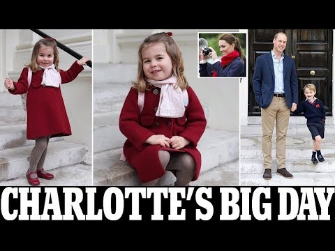 Kate Middleton takes pictures of Princess Charlotte first day at nursery school