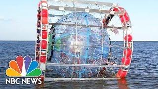 Man Attempts To Walk Across Ocean In Bubble | NBC News