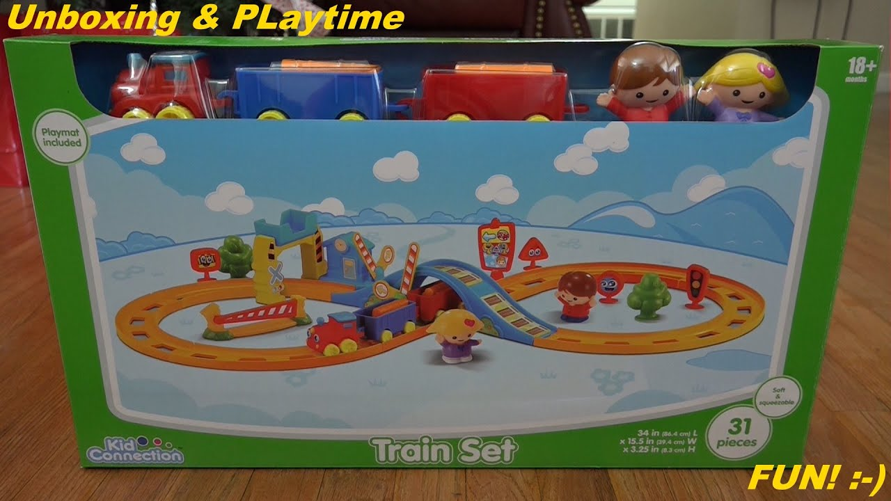 Toys for Kids and Toddlers Kid Connection Train Set Unboxing