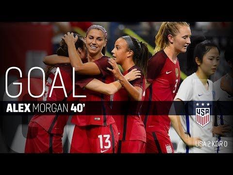 WNT vs. Korea Republic: Alex Morgan Goal - Oct. 19, 2017
