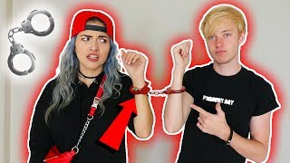 24 HOURS HANDCUFFED TO MY GIRLFRIEND