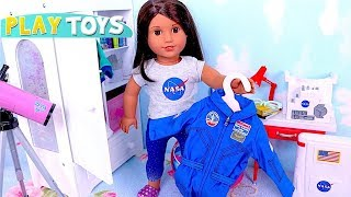 How to Set up Doll Bedroom Furniture for AG Space Doll Luciana! 🎀