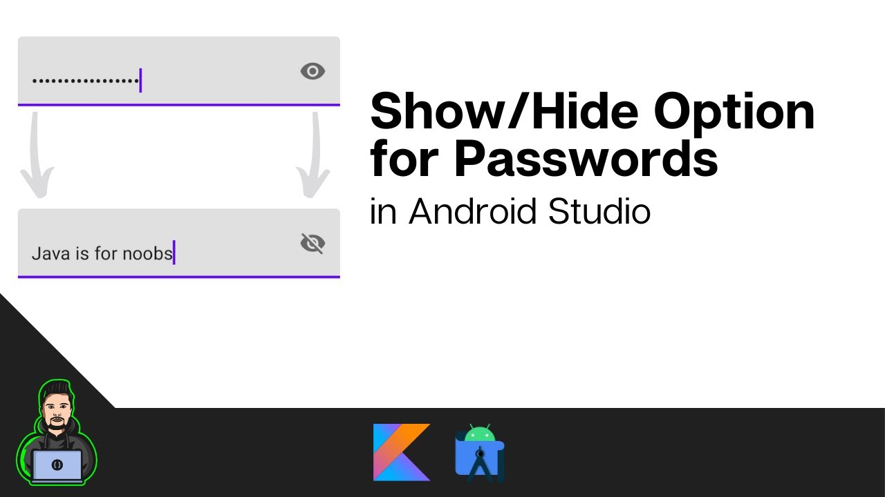 How to Toggle Password Visibility in Android Studio