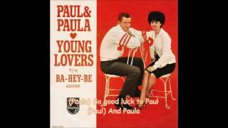 Young Lovers (with lyrics) - Paul & Paula
