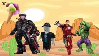 Finger Family- Roblox,Airman,Hulk,Deadpool,Wolverine Oynuyor,-Bebek Şarkılarıı