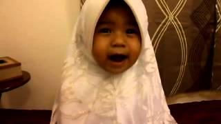 bila budak kecil baru belajar alif baa taa   comel