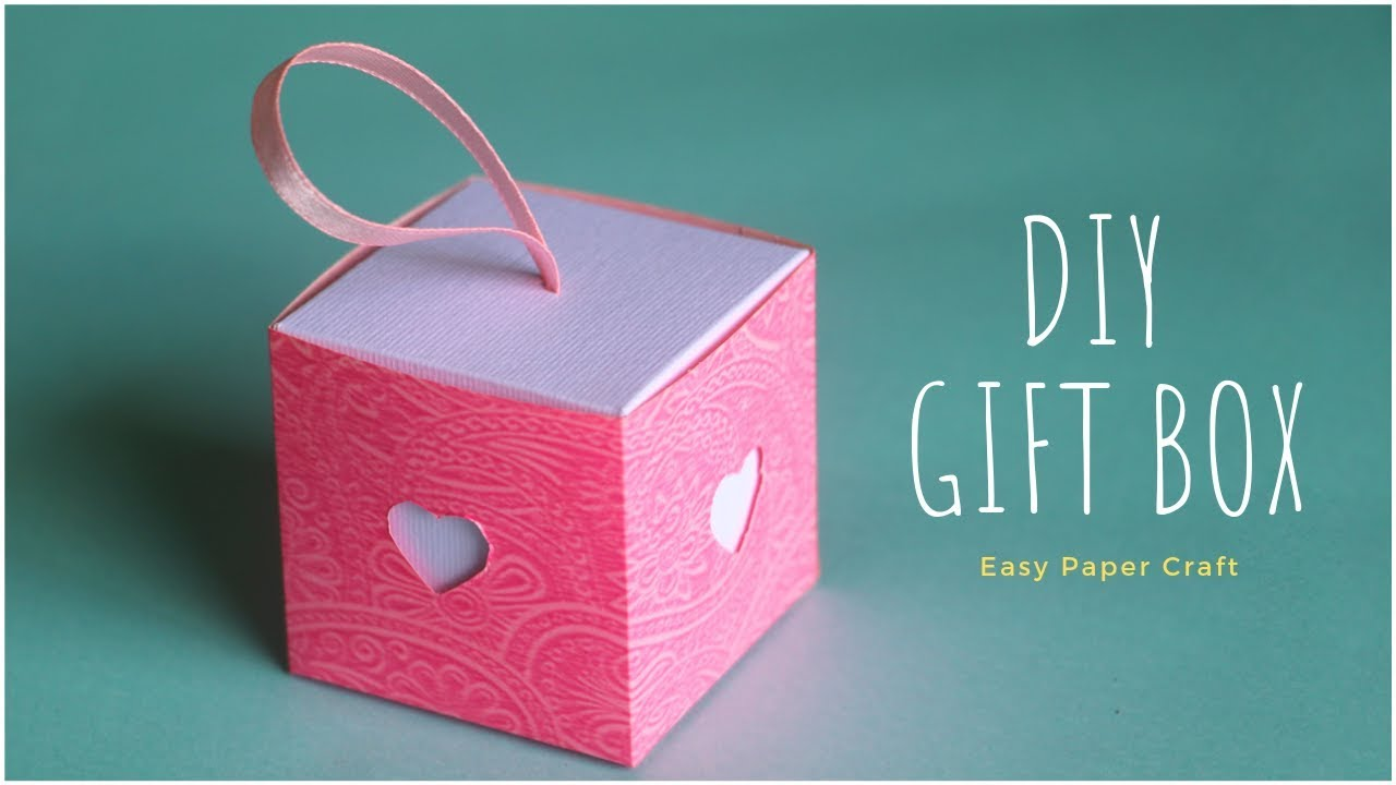 Diy Gift Box How To Make Gift Box Easy Paper Craft Ideas Youtube