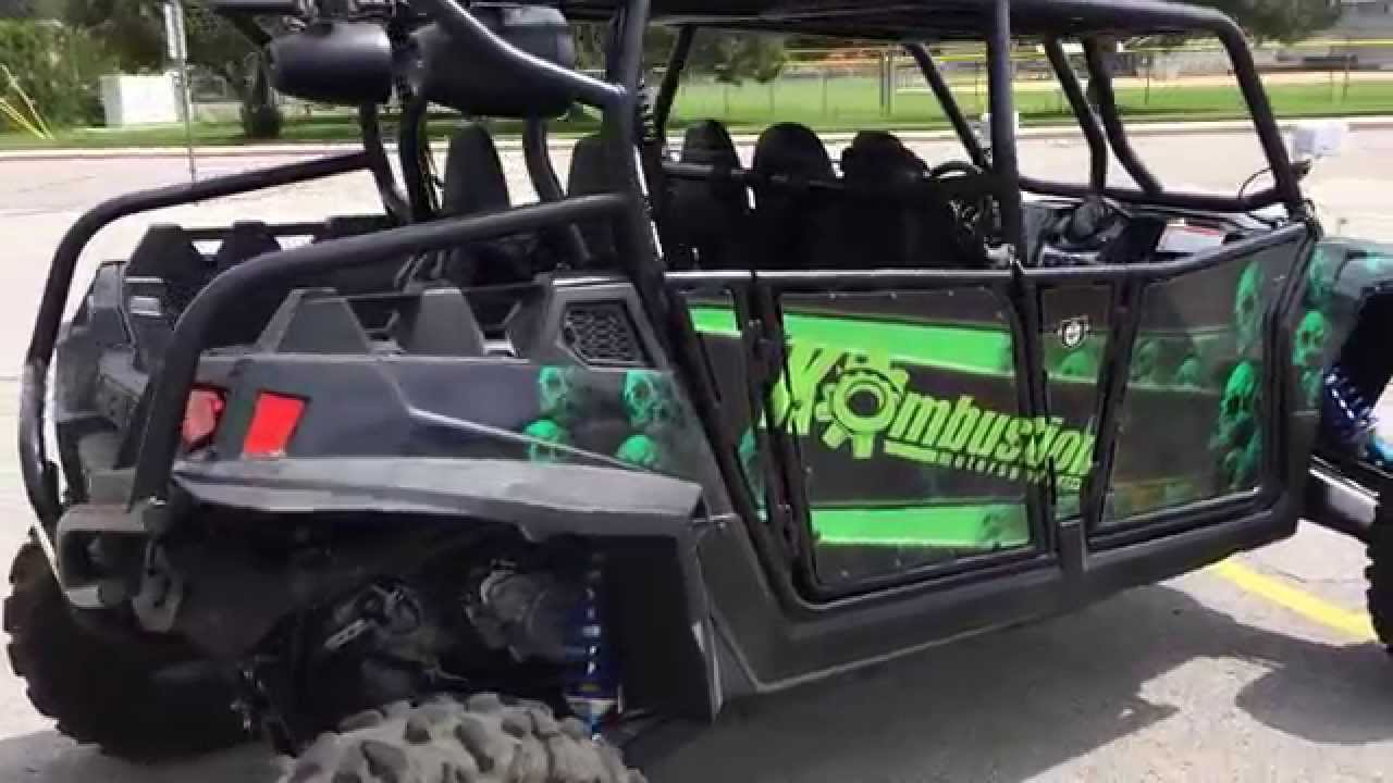 Rzr 900 Custom Stereo With Sub And 4 Speakers Youtube