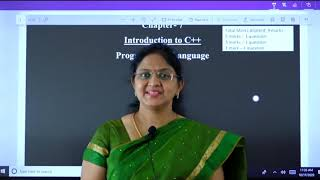 I PUC  Computer Science  Introduction to C++ - 1