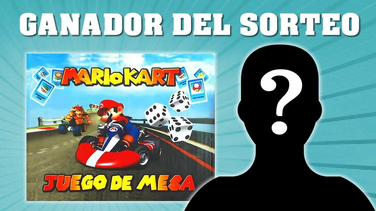 Ganador Del Sorteo Del Juego De Mesa De Mario Kart Youtube