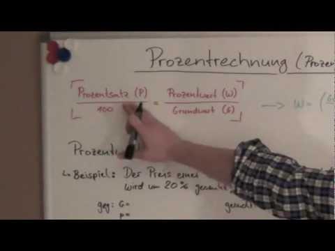 Prozentrechnung Formel Aufgaben Grundlagen Mit Video Erklärung
