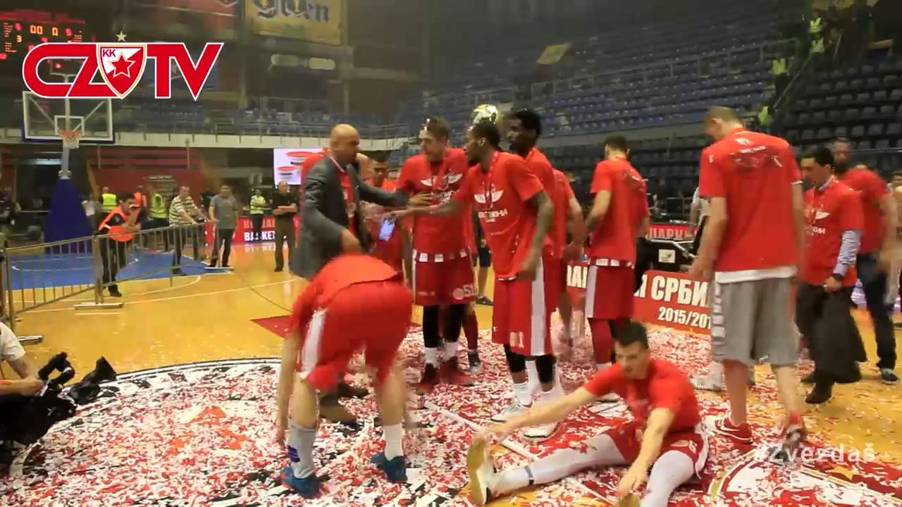 Dodela Trofeja Kk Partizan Kk Crvena Zvezda Telekom Final Game 4 2016