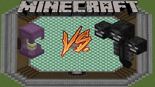 MINECRAFT - SHULKER VS WITHER - MOB BATTLE (1.9 MINECRAFT)