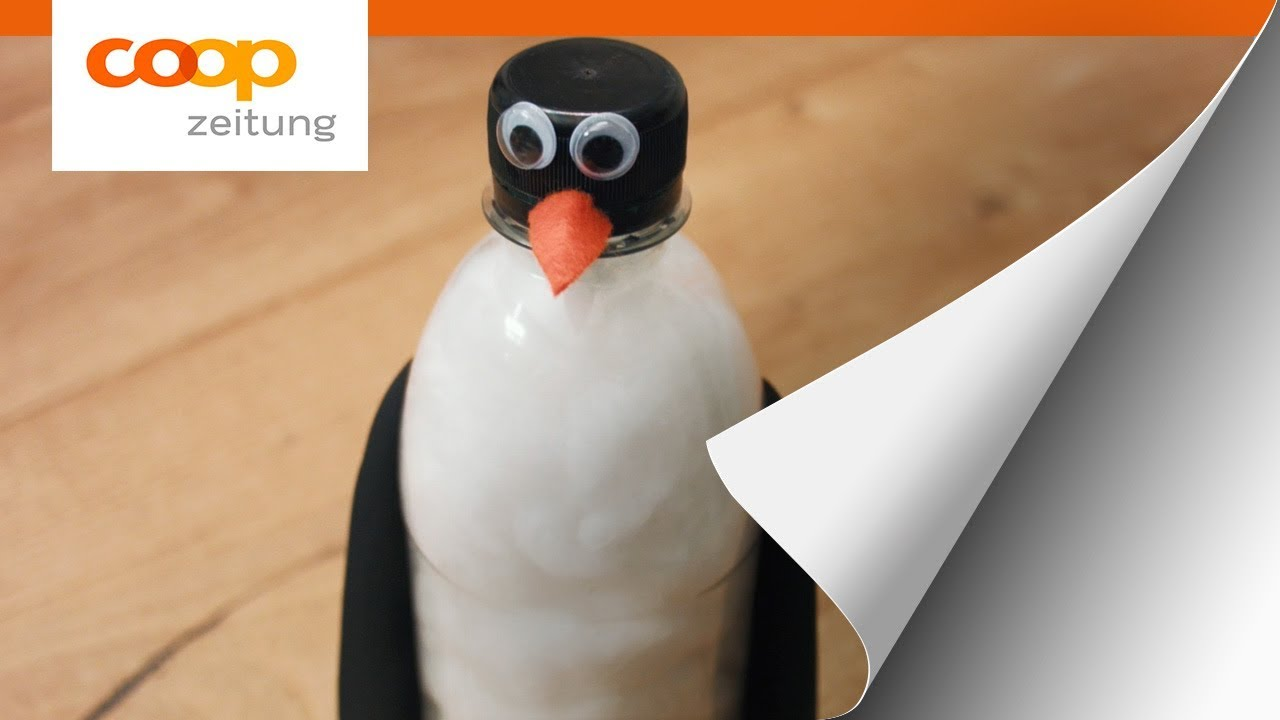 Bastelidee Pinguin Aus Pet Flasche Youtube