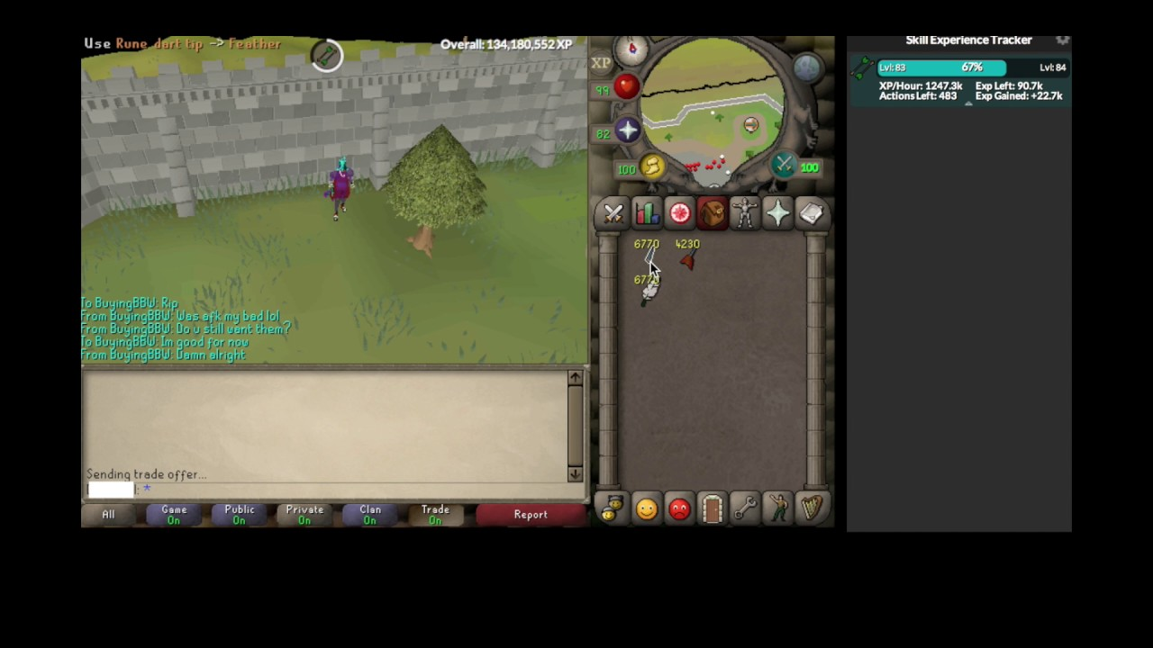 1 8m xp/hour mouse only without dragon darts (NO AHK NO STICKY KEYS)