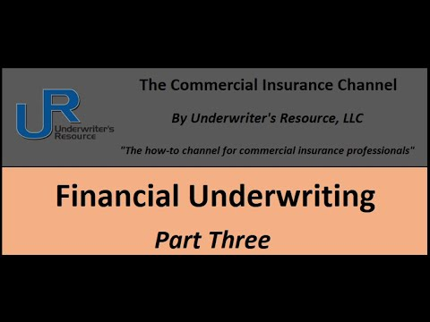 Business Insurance Financial Underwriting Part 3 Youtube