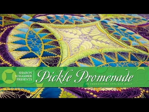 Sharon Schamber: Pickle Promendade - With Quilting