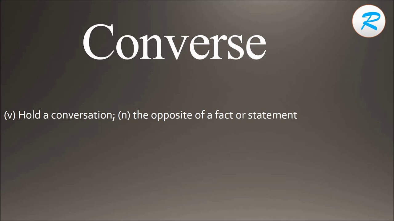 converse meaning