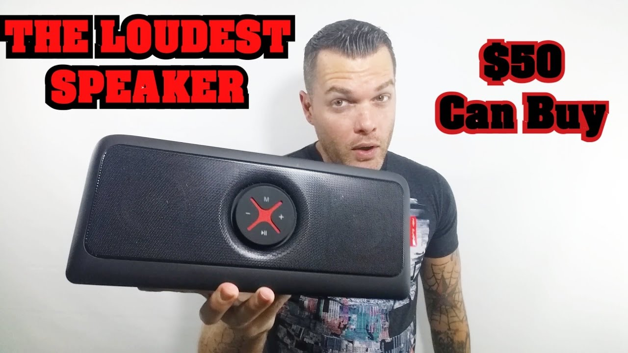 Loudest Bluetooth Speaker Best Portable Speaker For 50 2016 Bass Heavy Youtube