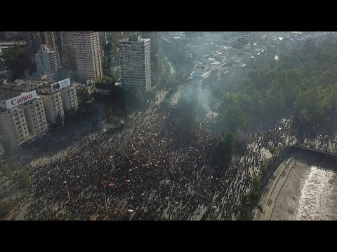 AFP news agency: Drone images show thousands of protesters in Santiago | AFP