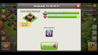 Clash of CLans new spell factory update bat spell|coc|crazy gamer