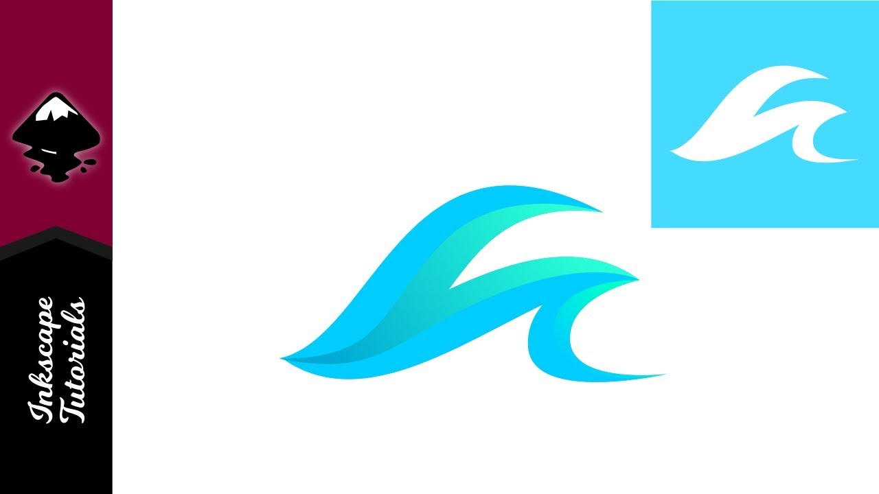 inkscape beginner tutorial ocean waves surfing logo youtube