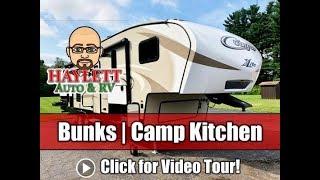 Used 2017 Cougar 28RDB Bunkhouse Camp Kitchen Keystone Fifth Wheel RV