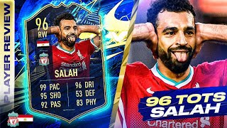 KING MO!😍 96 TEAM OF THE SEASON SALAH REVIEW! FIFA 21 Ultimate Team