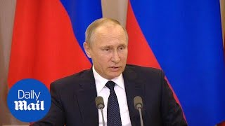 Putin offers to share transcripts of Russia's Trump meeting - Daily Mail