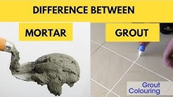 Difference Between Cement Mortar and Grout in Construction.