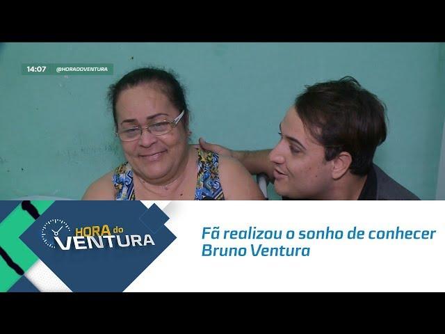 Fã realizou o sonho de conhecer Bruno Ventura - Bloco 01