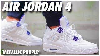 air jordan 4 metallic purple