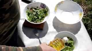 Салат из ботвы редиски