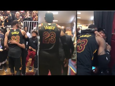 LEBRON JAMES LEAVES THE COURT FOR POSSIBLY THE LAST TIME AS A CAVALIER   2018 NBA Finals Moments