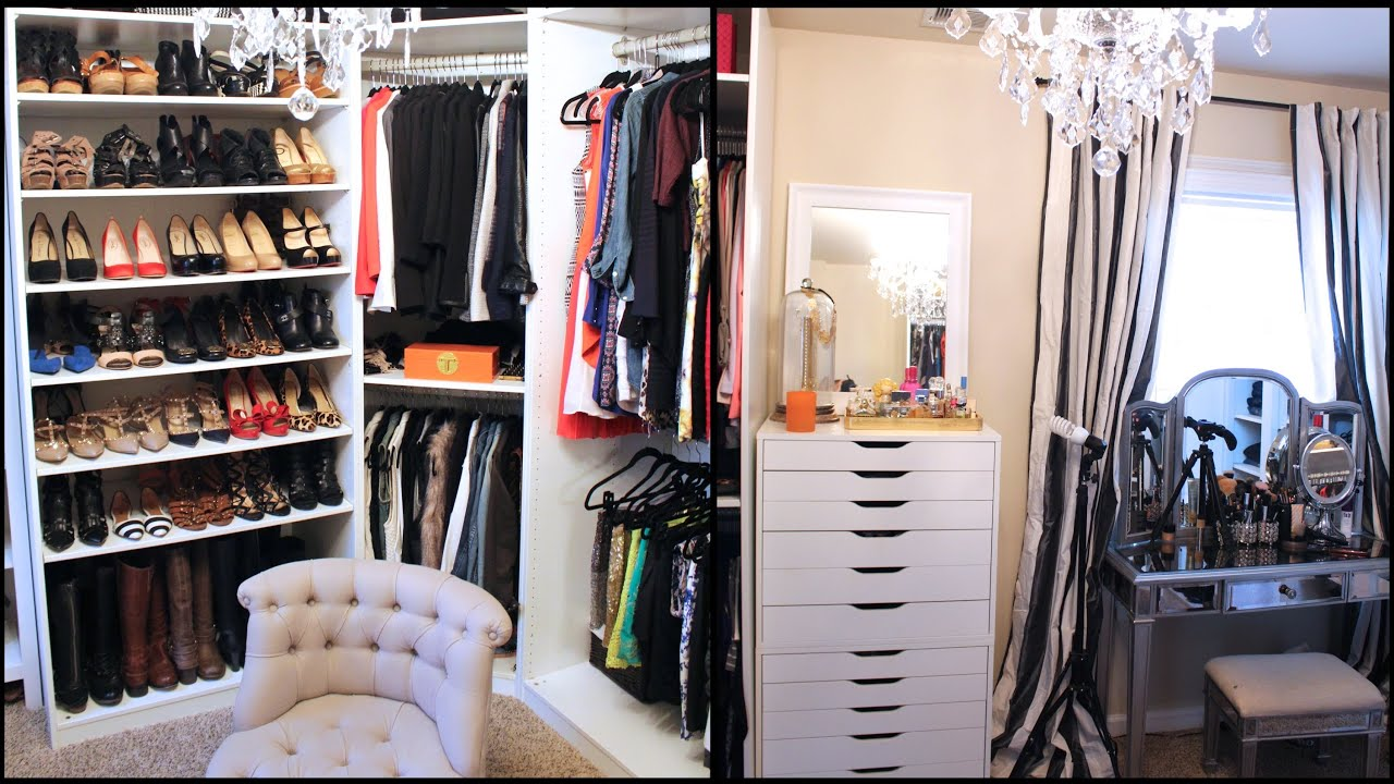 New Updated Closet Amp Makeup Filming Area Tour Doovi