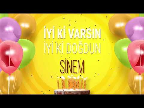 İyi ki doğdun SİNEM- İsme Özel Doğum Günü Şarkısı (FULL VERSİYON)